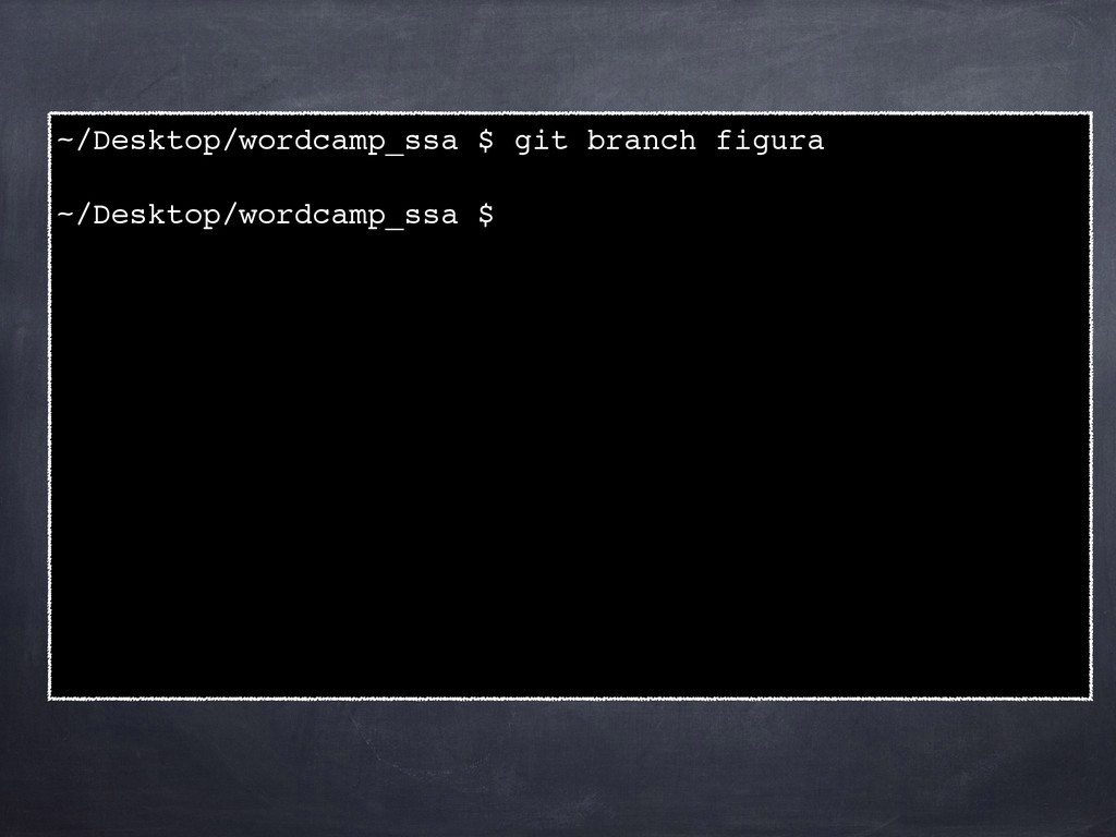 ~/Desktop/wordcamp_ssa $ git branch figura! ! ~...