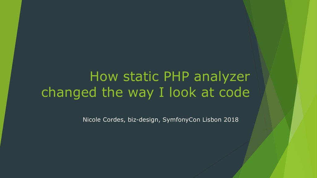 How static PHP analyzer changed the way I look ...