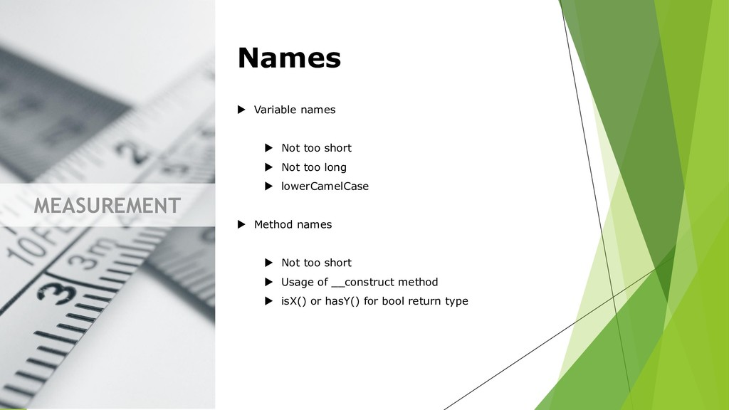 MEASUREMENT Names  Variable names  Not too sh...