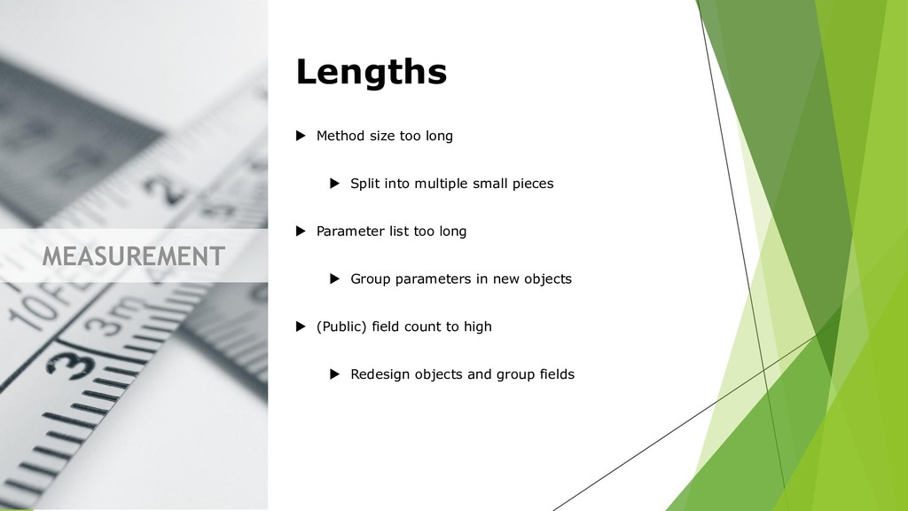 MEASUREMENT Lengths  Method size too long  Sp...