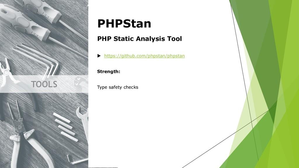 TOOLS PHPStan PHP Static Analysis Tool  https:...