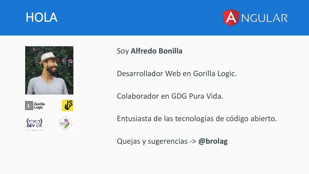 HOLA Soy Alfredo Bonilla Desarrollador Web en G...