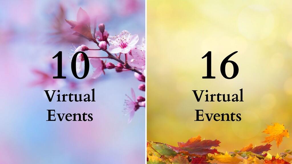 10 16 Virtual Events Virtual Events