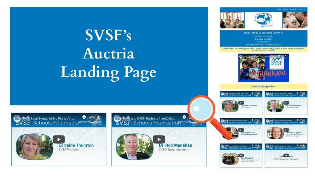 SVSF's Auctria Landing Page