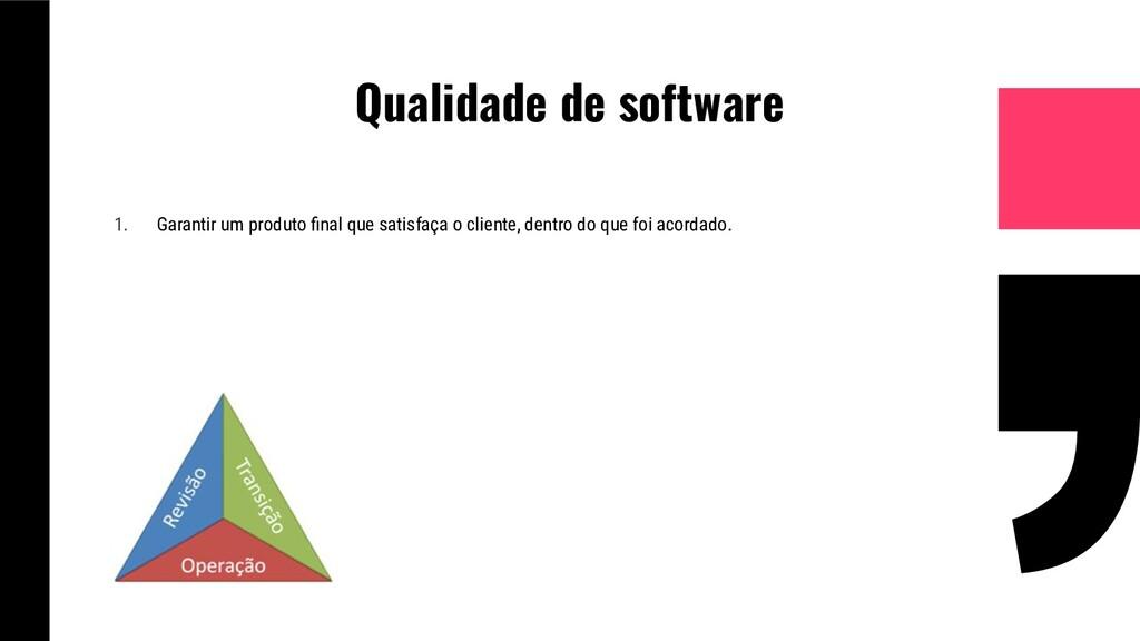Qualidade de software 1. Garantir um produto fin...