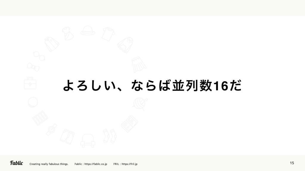15 ΑΖ͍͠ɺͳΒฒྻ16ͩ