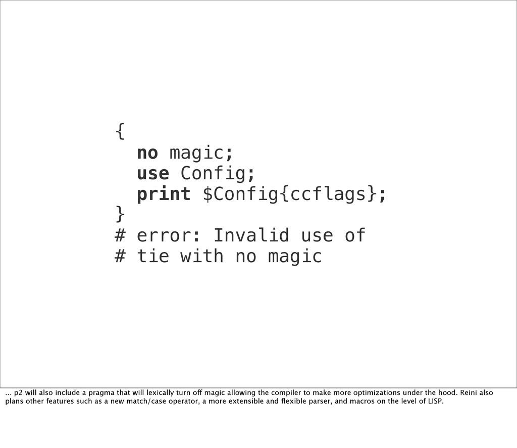 { no magic; use Config; print $Config{ccflags};...