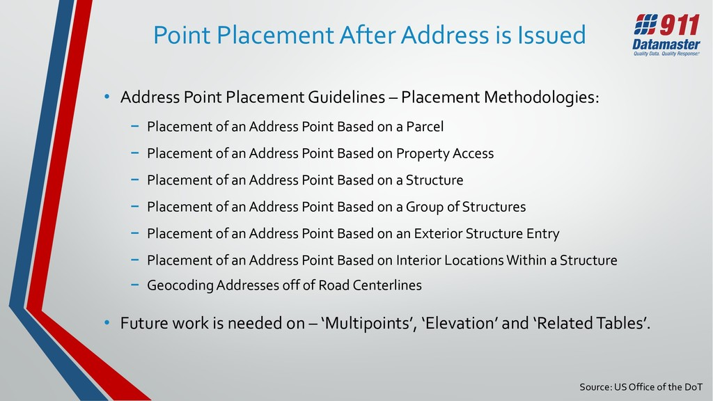 Source: US Office of the DoT Point Placement Af...
