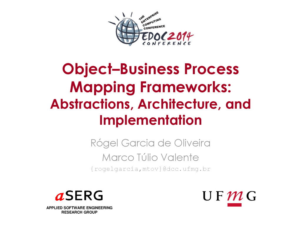 Object–Business Process Mapping Frameworks: Abs...