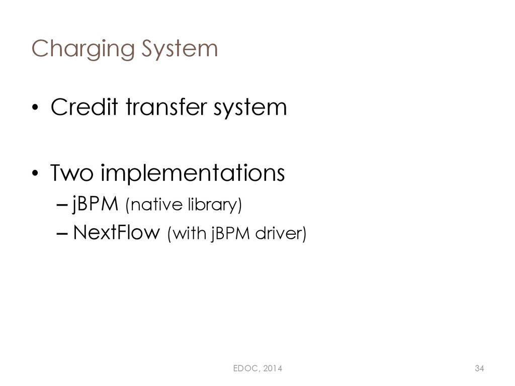 Charging System • Credit transfer system • Two ...