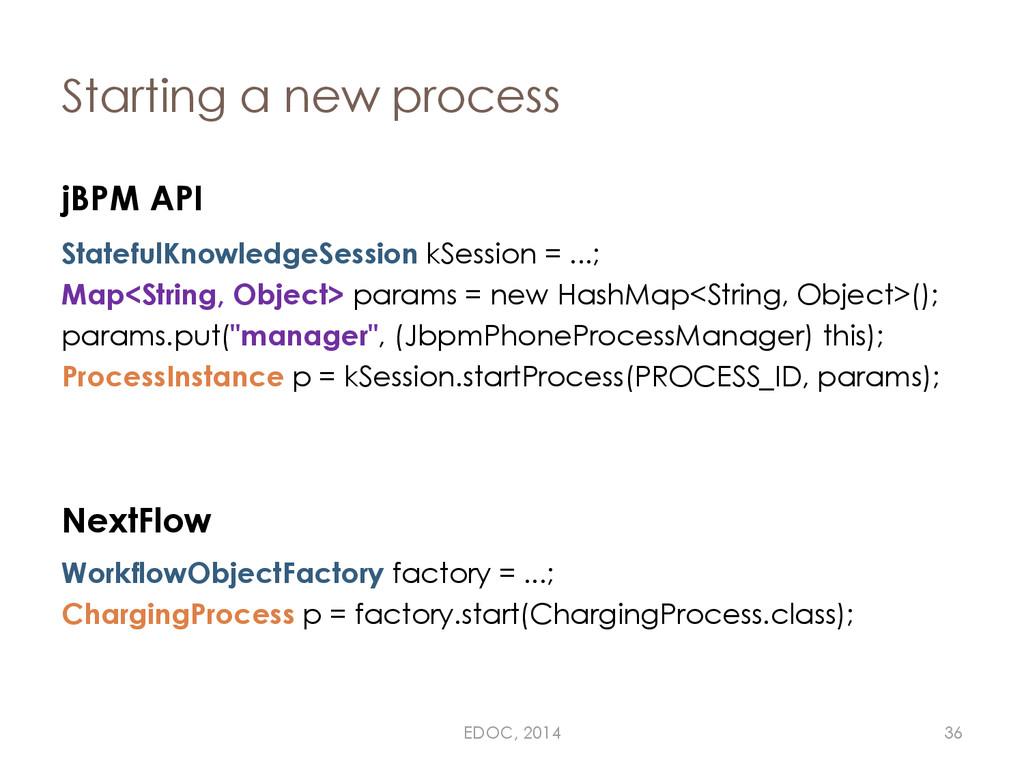 Starting a new process jBPM API StatefulKnowled...