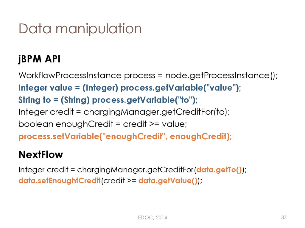 Data manipulation jBPM API WorkflowProcessInsta...