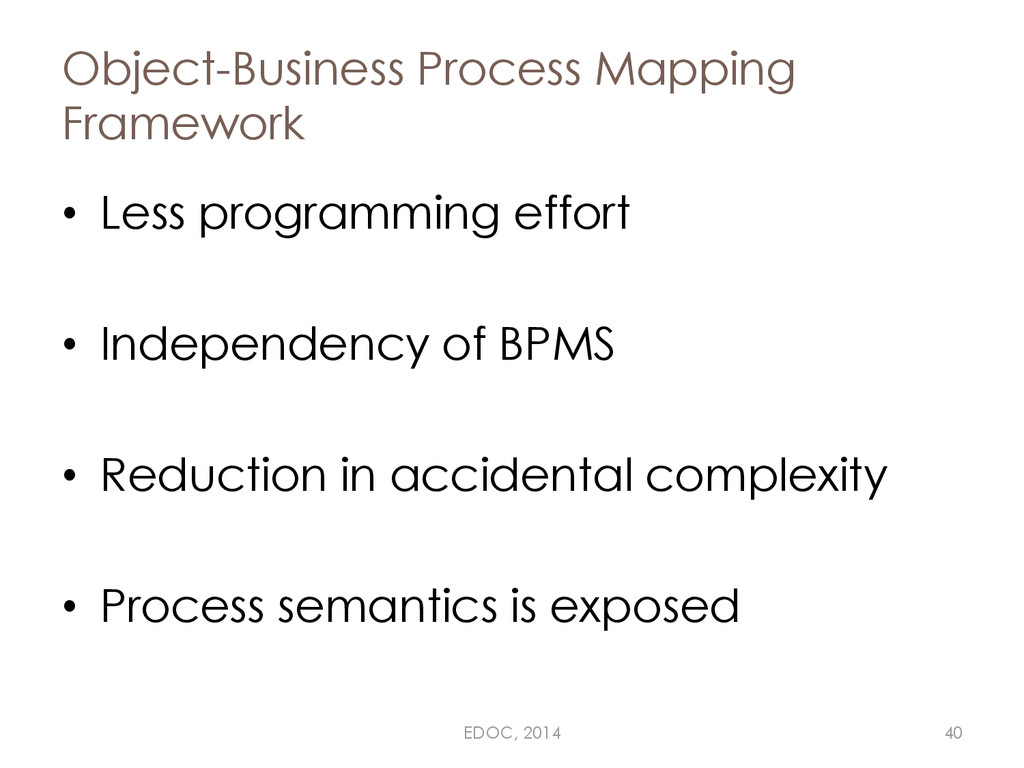 Object-Business Process Mapping Framework • Les...
