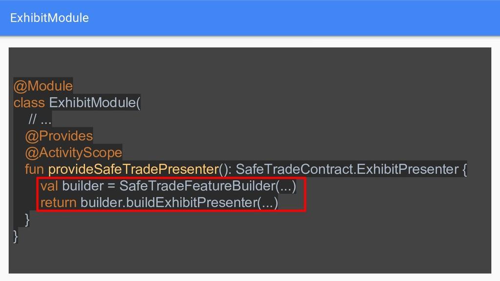 ExhibitModule @Module class ExhibitModule( // ....