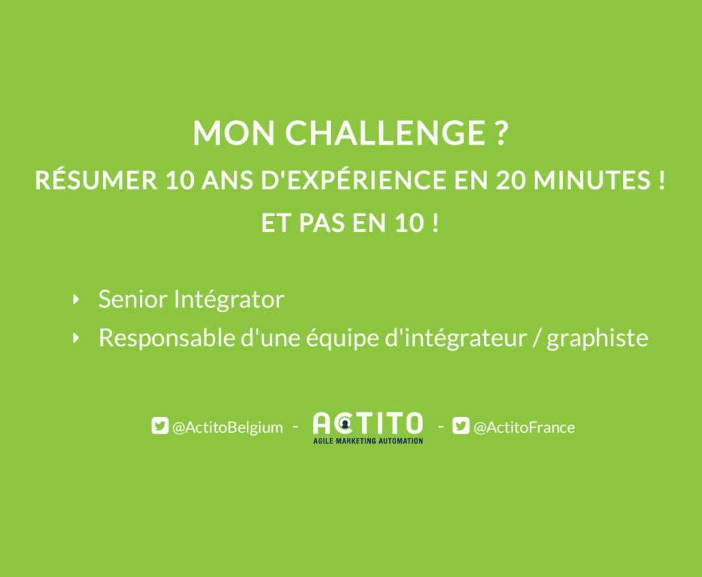 MON CHALLENGE ? RÉSUMER 10 ANS D'EXPÉRIENCE EN ...