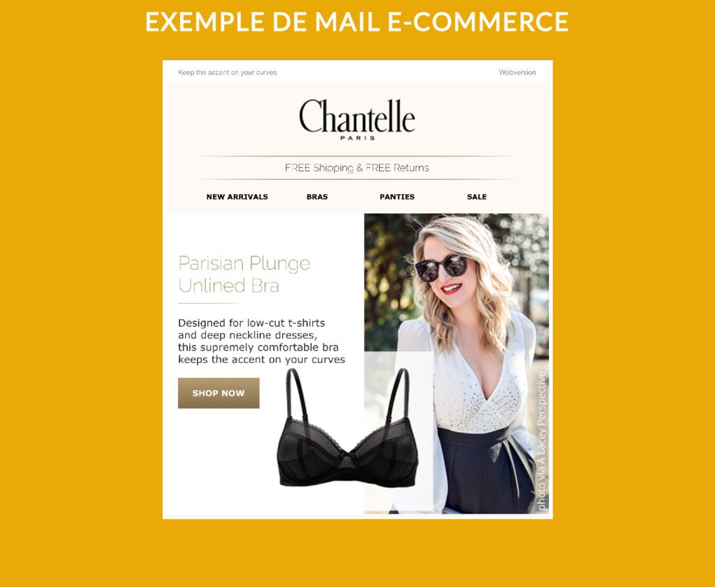 EXEMPLE DE MAIL E-COMMERCE