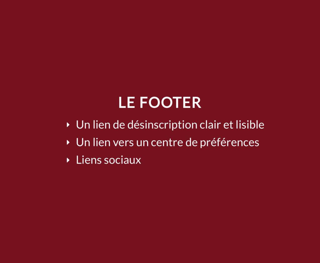 LE FOOTER Ý Un lien de désinscription clair et ...