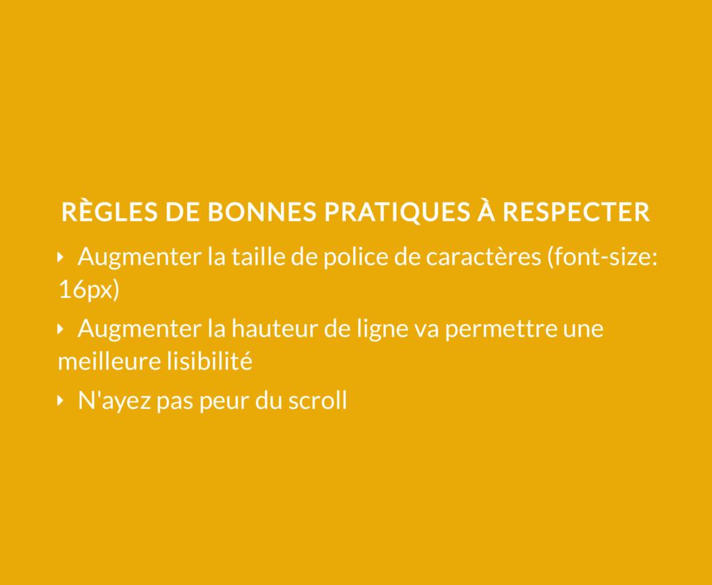 RÈGLES DE BONNES PRATIQUES À RESPECTER Ý Augmen...
