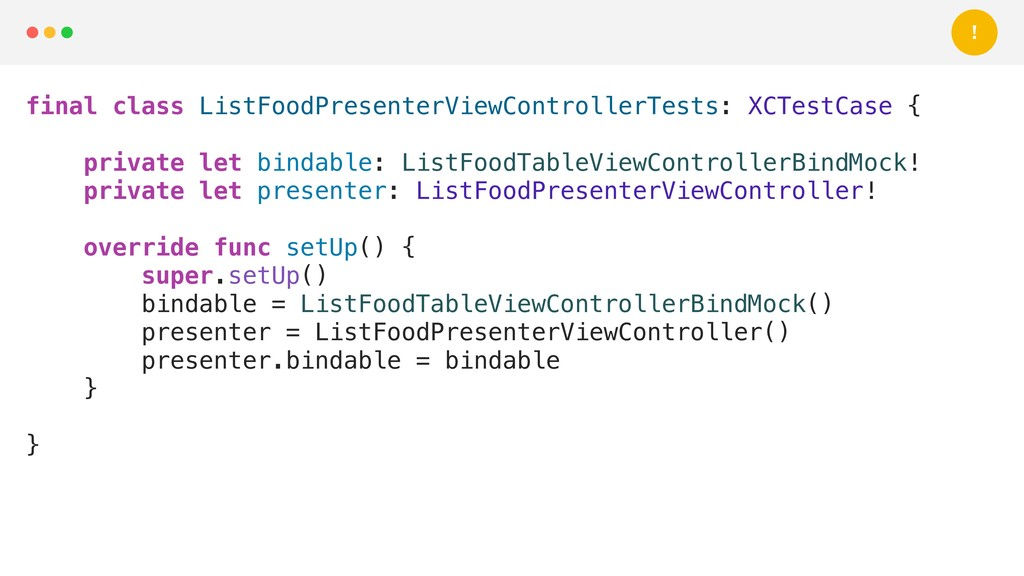final class ListFoodPresenterViewControllerTest...