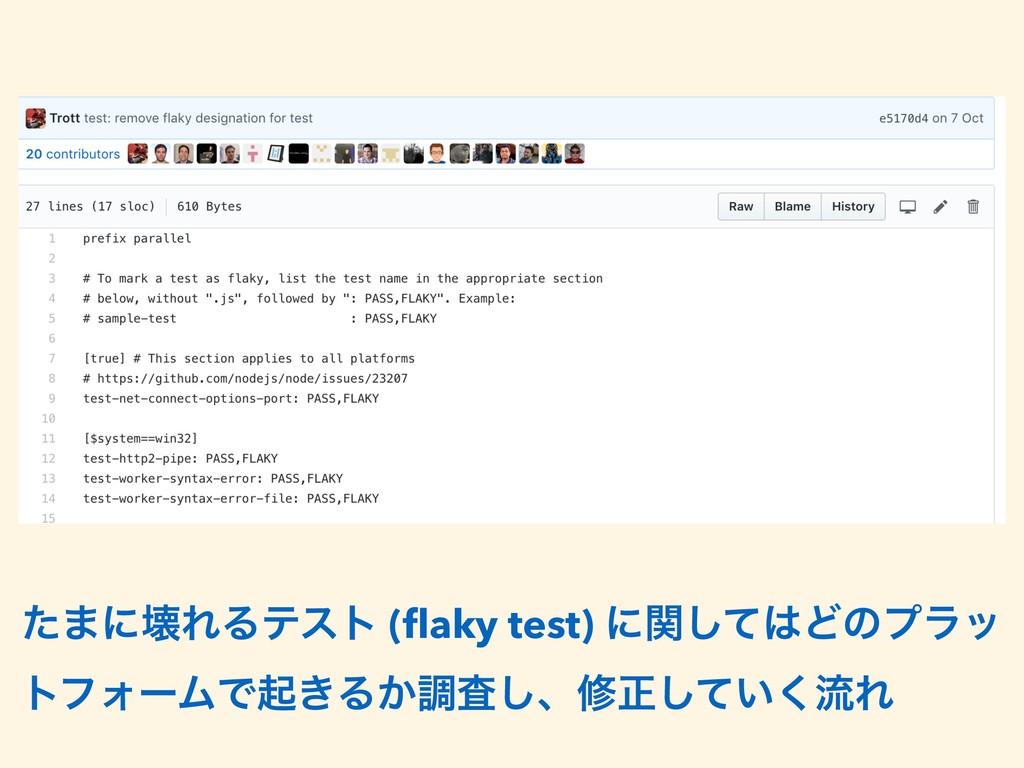 ͨ·ʹյΕΔςετ (flaky test) ʹؔͯ͠Ͳͷϓϥο τϑΥʔϜͰى͖Δ͔ௐࠪ͠ɺ...