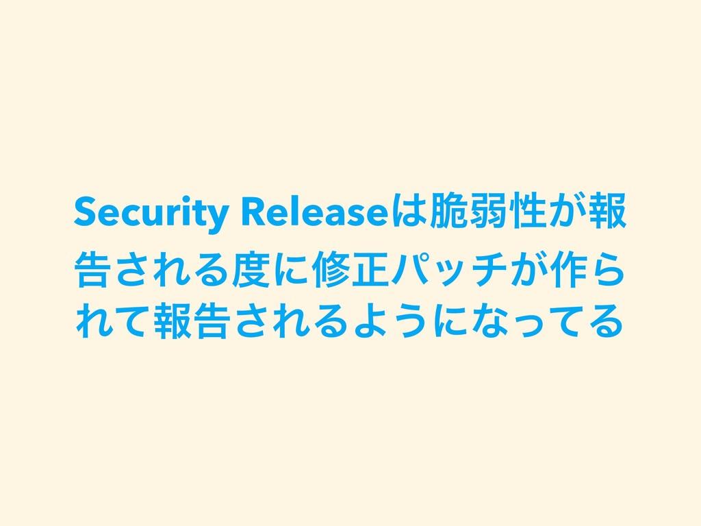 Security Release੬ऑੑ͕ใ ࠂ͞ΕΔʹमਖ਼ύον͕࡞Β Εͯใࠂ͞ΕΔΑ͏...