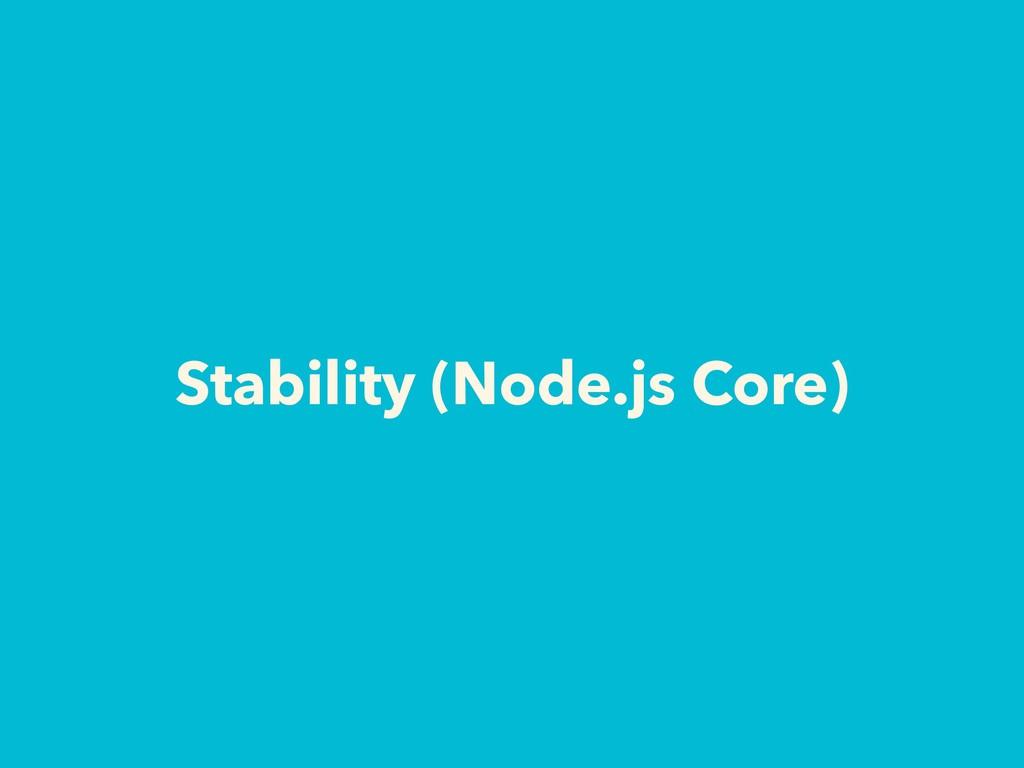 Stability (Node.js Core)