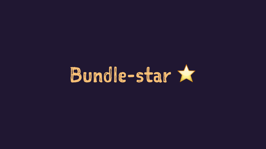 Bundle-star ⭐