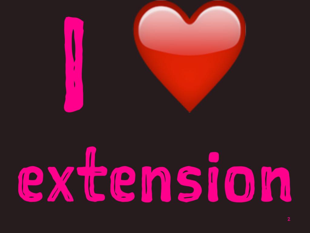 I ❤ extension 2