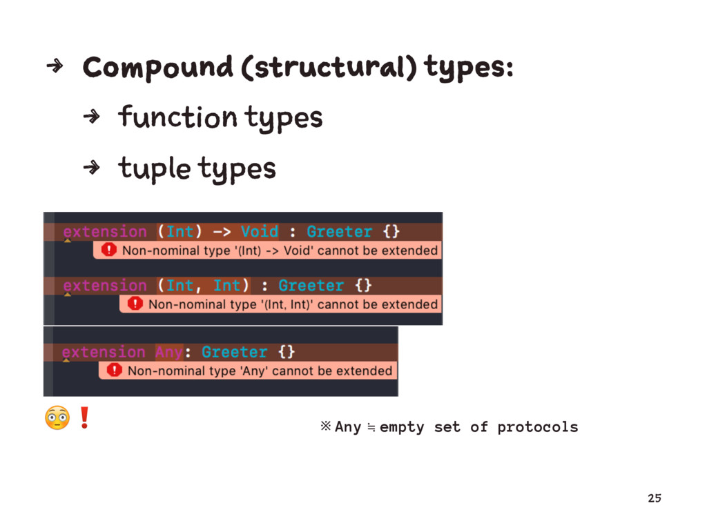 4 Compound (structural) types: 4 function types...