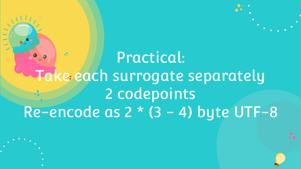 Practical: Take each surrogate separately 2 cod...