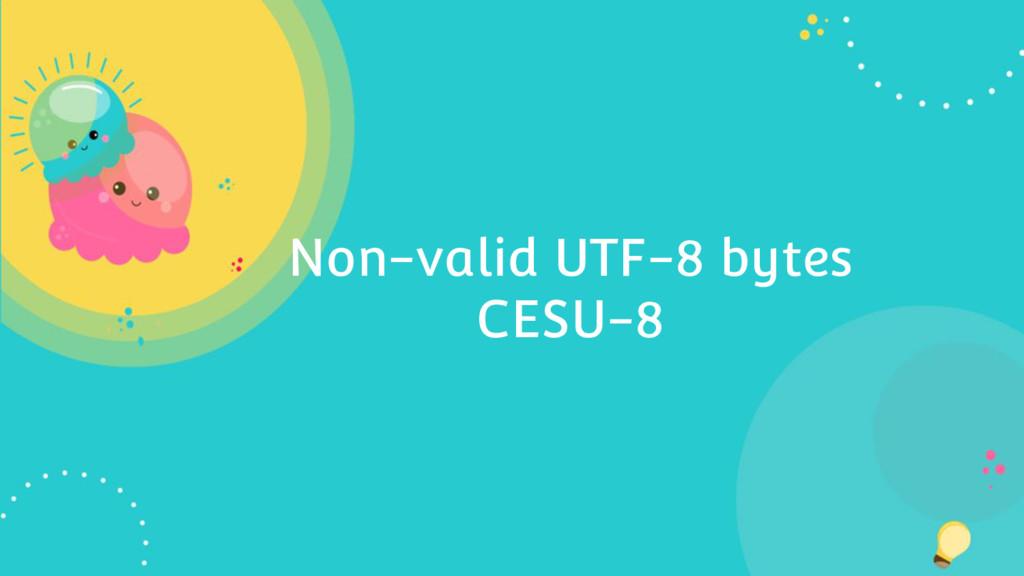 Non-valid UTF-8 bytes CESU-8