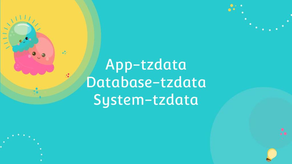 App-tzdata Database-tzdata System-tzdata