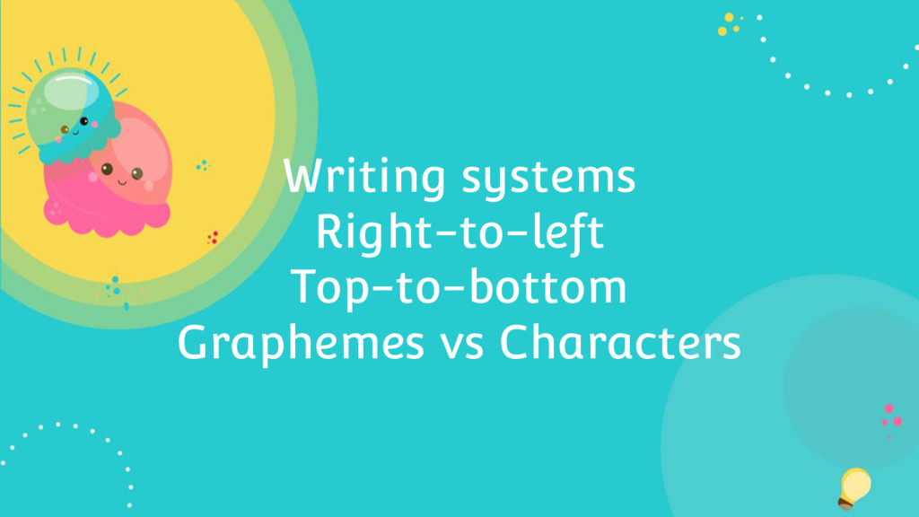 Writing systems Right-to-left Top-to-bottom Gra...