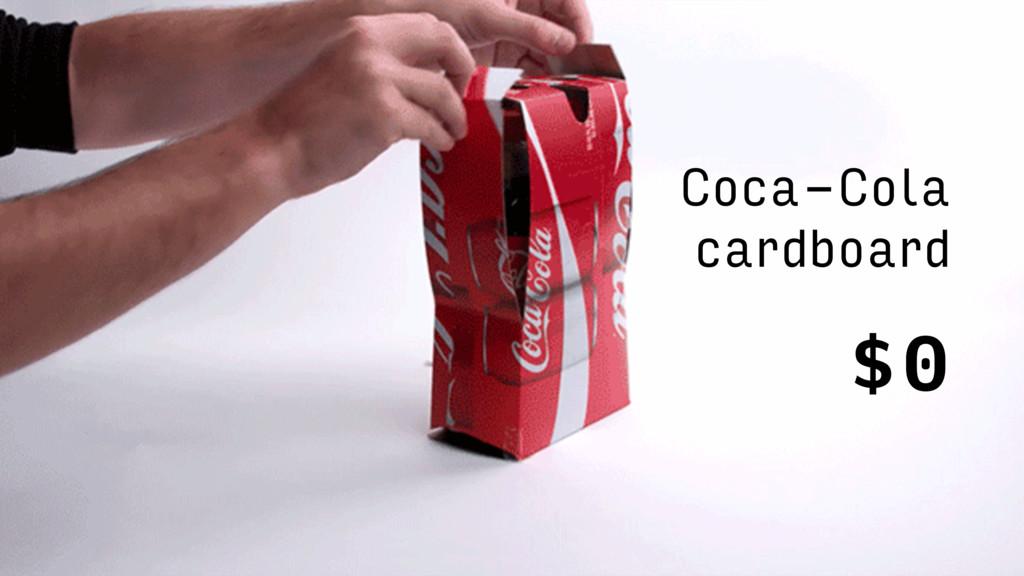 Coca-Cola cardboard $0