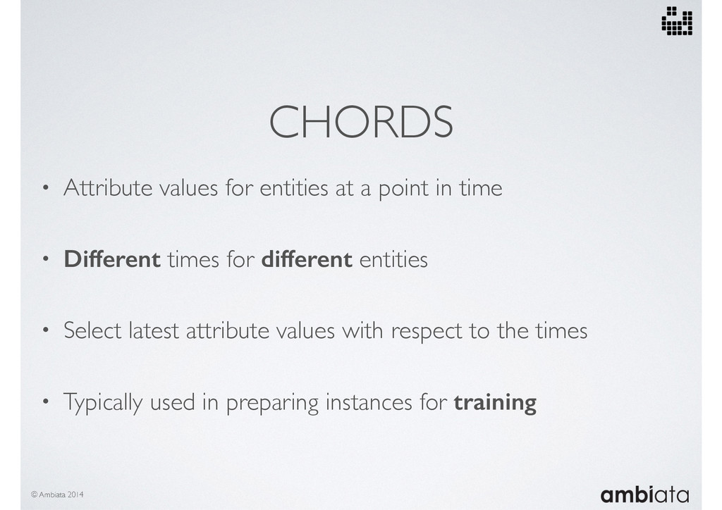CHORDS • Attribute values for entities at a poi...