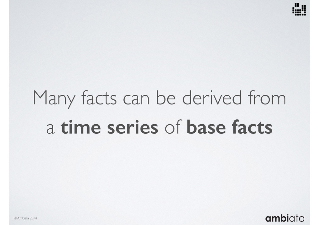 Many facts can be derived from a time series of...