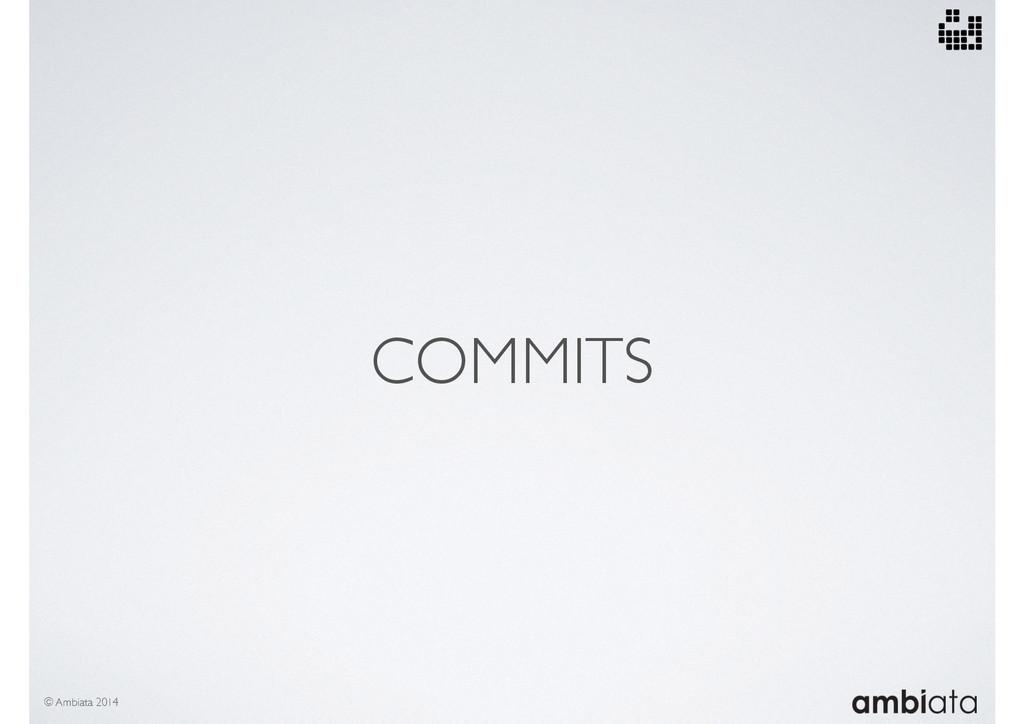COMMITS © Ambiata 2014