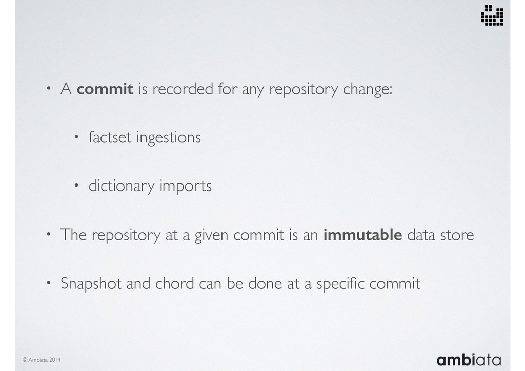 • A commit is recorded for any repository chang...