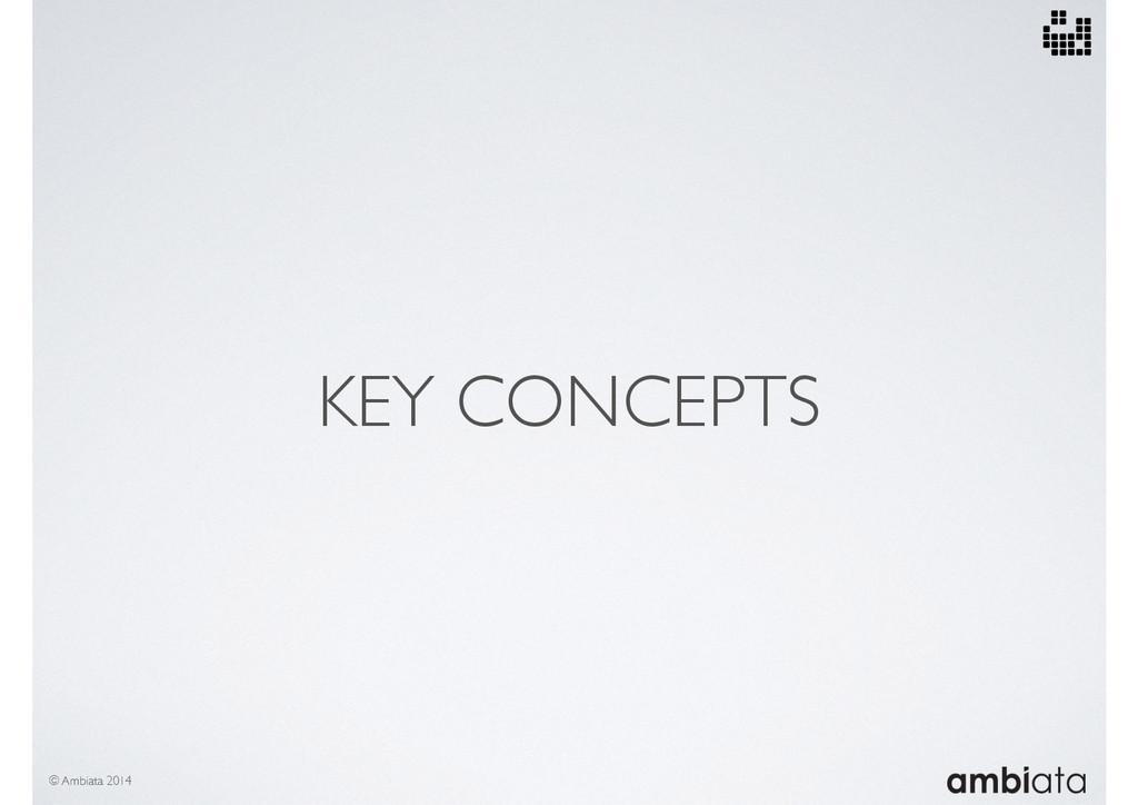 KEY CONCEPTS © Ambiata 2014