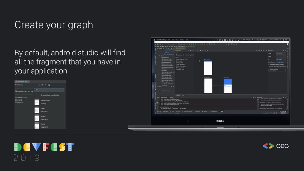 Create your graph By default, android studio wi...