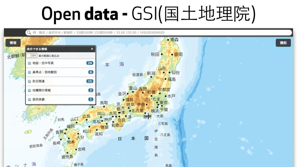 Open data - GSI(国⼟土地理院)