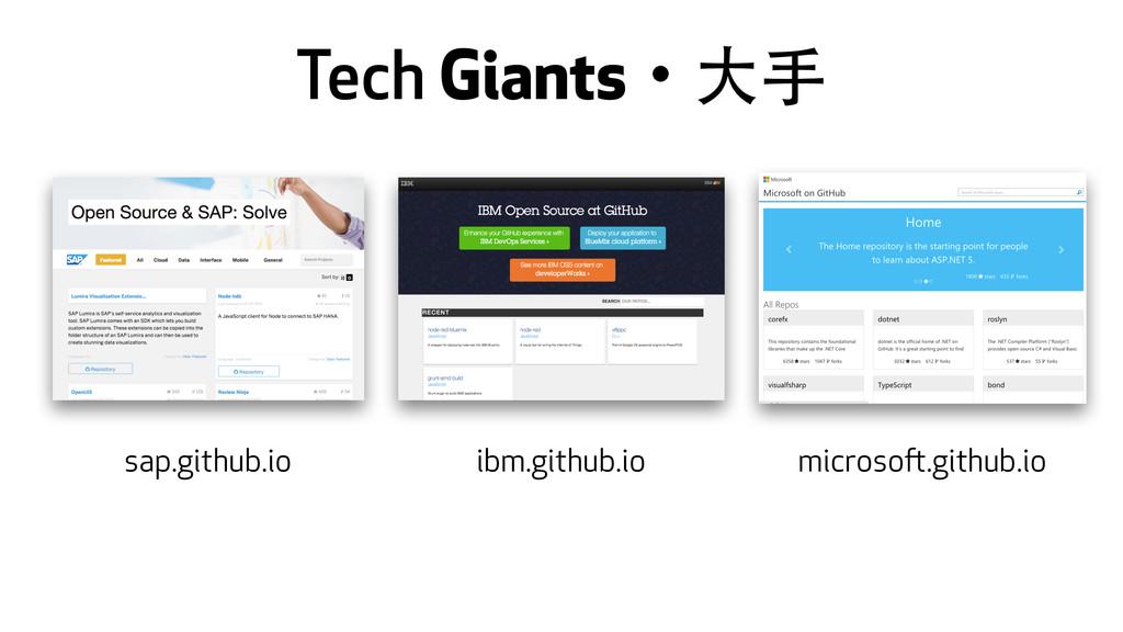 Tech Giantsɾ⼤大⼿手 sap.github.io ibm.github.io mi...