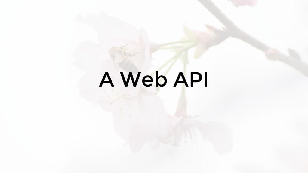 A Web API