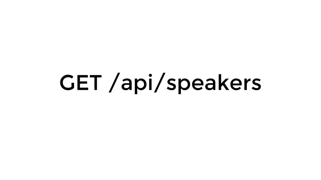 GET /api/speakers