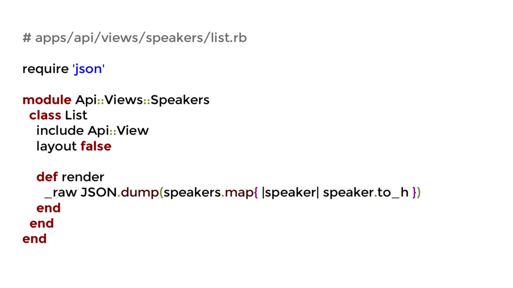 # apps/api/views/speakers/list.rb require 'json...