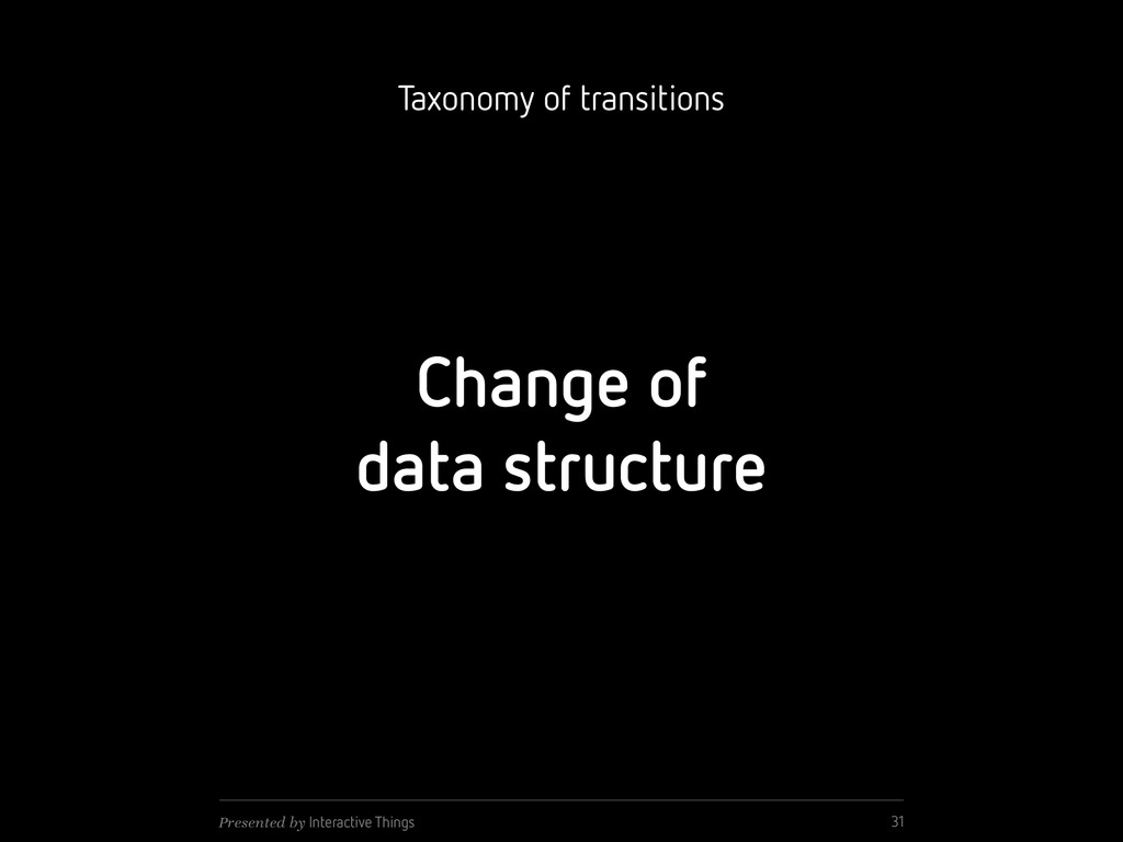Change of data structure 31 Presented by Intera...