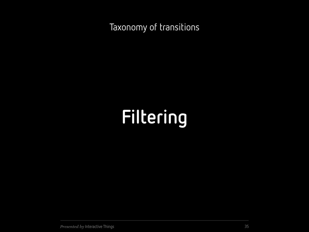 Filtering 35 Presented by Interactive Things Ta...