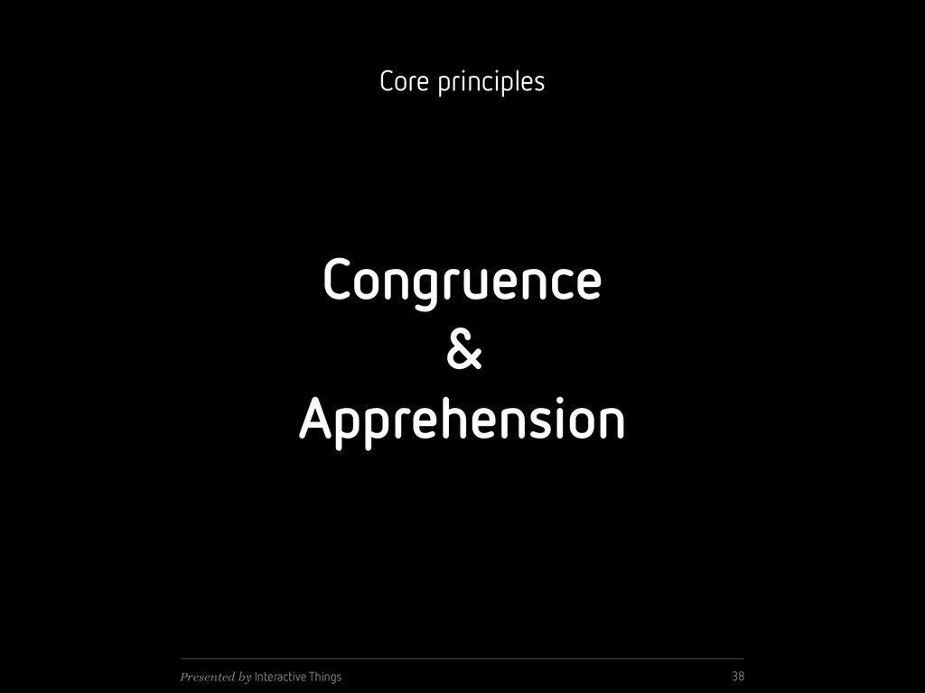 Congruence & Apprehension 38 Presented by Inter...