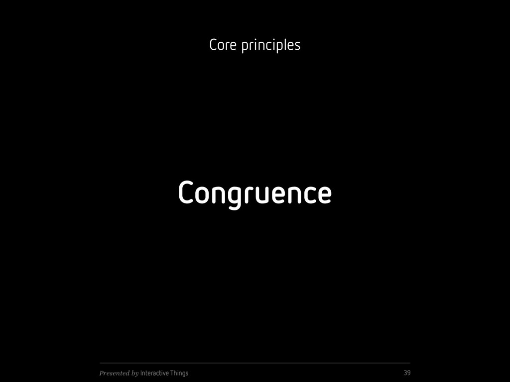 Congruence 39 Presented by Interactive Things C...