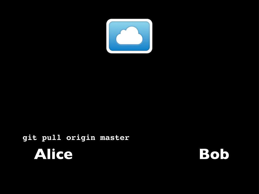 Alice git pull origin master Bob